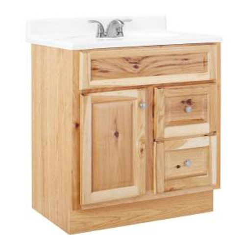 Base Hickory Cabinet (American Classics by RSI HNHK30DY Hampton 30-Inch Vanity Cabinet Only, Natural Hickory)