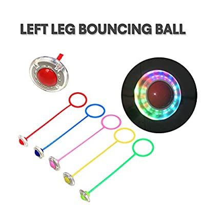 Weixinbuy Skip Ball for Kids Girls Boys, Ankle Skip Ball Flashing Jumping Ring Sports Swing Ball Fitness Jump Rope Game for Adults and Children: Toys & Games