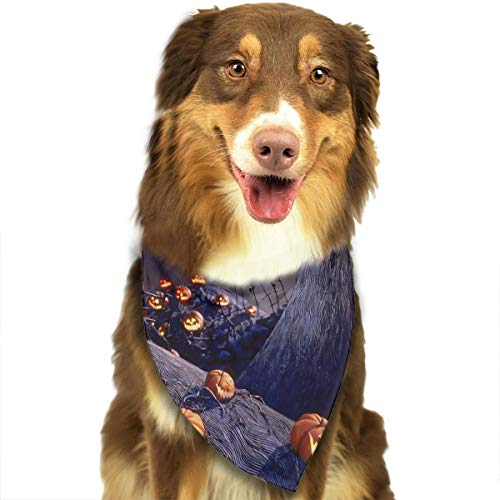 FRTSFLEE Dog Bandana The Nightmare Before Christmas Scarves Accessories Decoration for Pet Cats and Puppies ()