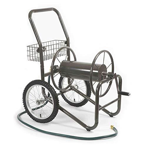Liberty Garden 880-2 Industrial 2-Wheel Pneumatic Tires Garden Hose Reel Cart, Holds 300-Feetof 5/8-Inch Hose - Gray