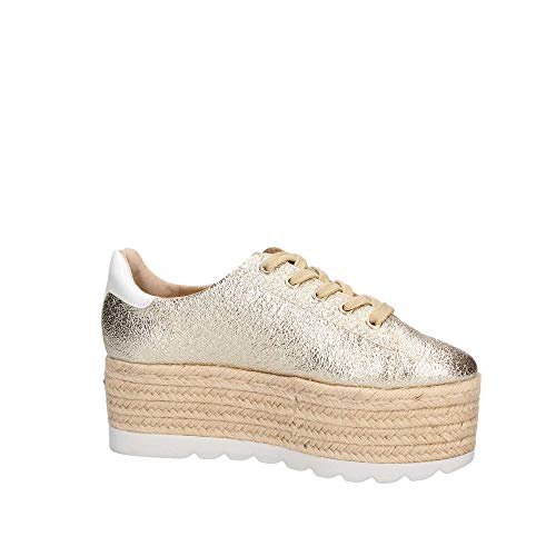 Mujer Oro Gracen Guess Para Plati leather Zapatillas derby gold q4Ba4wX