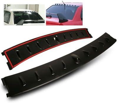 cogeek 10pcs Universal de fibra de carbono Kit de techo Aler/ón Aletas de Tibur/ón ala Evo estilo PP Vortex Generador Fibra de Carbono