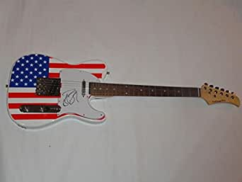 robin zander signed usa flag electric guitar cheap trick proof coa jsa certified at amazon 39 s. Black Bedroom Furniture Sets. Home Design Ideas