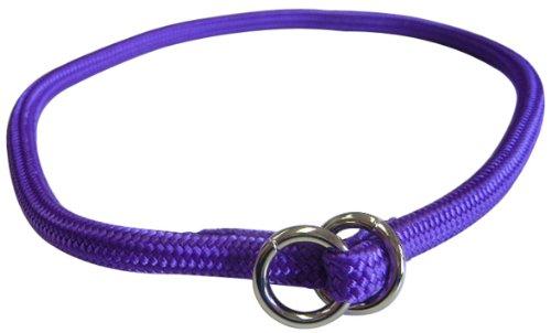 Hamilton 829 PU 5/16-Inch by 20-Inch Round Braided Choke Nylon Dog Collar, Purple, My Pet Supplies