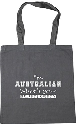 Shopping Your Superpower I'm 42cm Bag Australian What's HippoWarehouse Tote Gym Grey Beach litres x38cm 10 Graphite Yw4Ftxq