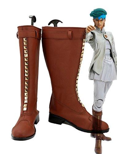 JOJOS BIZARRE ADVENTURE 4 Rohan Kishibe Boots Cosplay Shoes Boots Custom Made 2 gxUFoMC