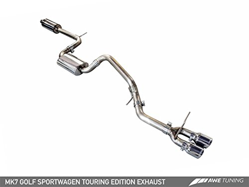 AWE Tuning 3015-23040 VW MK7 Golf SportWagen Touring Edition Exhaust (with Diamond Black Tips 90mm) (Vw Supersprint Golf)