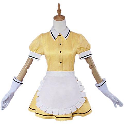 Nuoqi Blend-S Anime Uniforms Cosplay Costumes (Customized, Yellow-Mafuyu Hoshikawa)]()