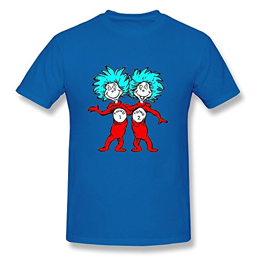 Konoyie Men's Cat In The Hat Thing One And Thing Two T-Shirt - Fans T-shirt RoyalBlue US Size S