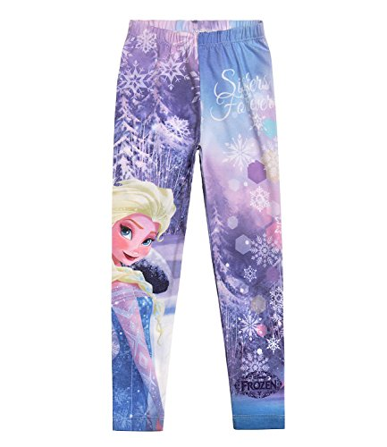 morado hielo reino Violeta del Disney Leggings Chicas nYq0zUnOg