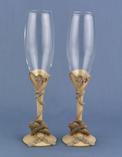 Hortense B. Hewitt Wedding Accessories Country Flair Champagne Toasting Flutes
