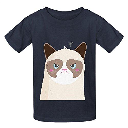 Grumpy Cat Naj Child Crew Neck Cotton Shirts Grey (Boba Fett Suit For Sale)
