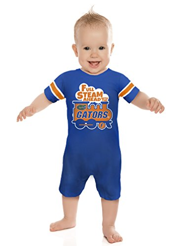 Cheekie Peach NCAA Florida Gators Boys Infant Full Steam Onesie, 6-12 Months, Royal