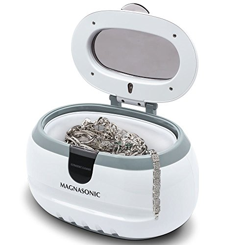 Magnasonic Professional Ultrasonic Polishing Jewelry Cleaner Machine for Cleaning Eyeglasses, Watches, Rings, Necklaces, Coins, Razors, Dentures, Combs, Tools, Parts, Instruments (CD2800) (Ultrasonic Denture Cleaner)