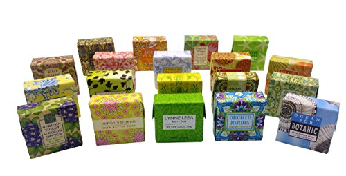 Botanical Soap Natural Extracts Sampler Set of 19 1.9 ounce Soap Bars Gift Boxed by Lynne Leea