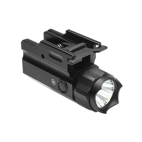 Tactical Defensive STROBE Flashlight with Integral Quick Detach Mount Fits Beretta Springfield XD Beretta 92 96 M9A1 92A1 96A1 92FSR 92G-SD KIMBER Desert Warrior SOC TLE II Full Size Handgun Pistols