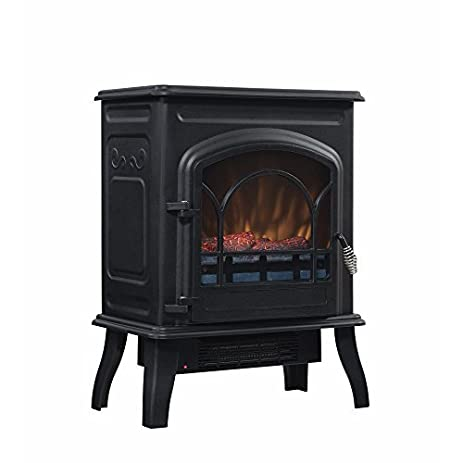 600-BTU Electric Fireplace Stove - Black: Kitchen & Dining