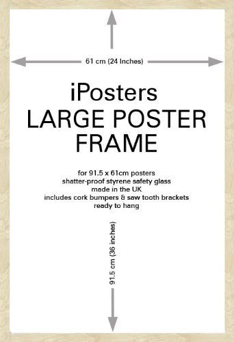 Iposters Beech Wood Effect Large Poster Frame For 36 X 24 In