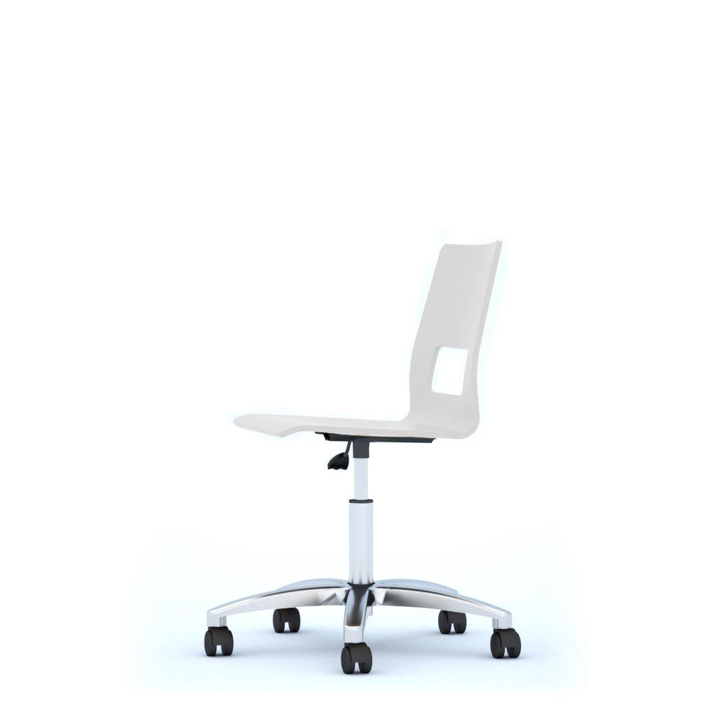 The Four Leaf Clover Group Celsius Swivel Chair, Wood, white, 62x 62x 94cm Offisit OCELSA03/2JTR