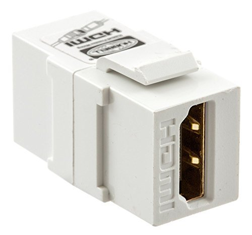 Hubbell Wiring Systems SFHC14W Snap-Fit Keystone HDMI, 1.4 Amp, A to A, White