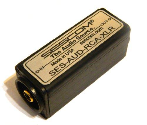 Sescom AUD-RCA-XLR 1 Channel RCA to XLR Unbalanced To Balanced Audio Converter by Sescom