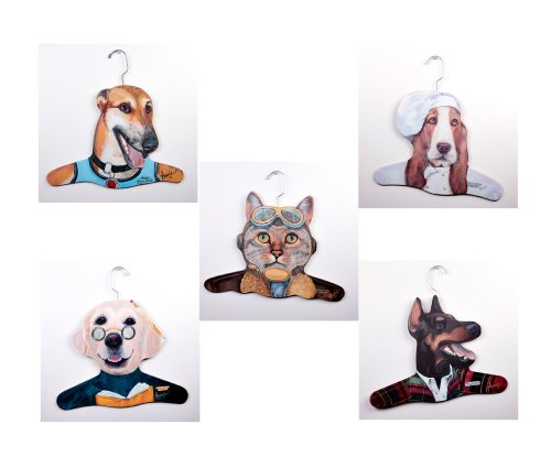 The Stupell Home Decor Collection 5Pack Animal Clothing H...