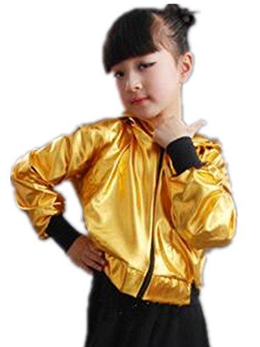 P1409レディースパーカー キッズ ダンスウェア メタリック コート ラッシュパーカー ダンス衣装 メンズ ユニセックス 子供 ジュニア 女の子 男の子 大人から子供まで 身長110-180cm