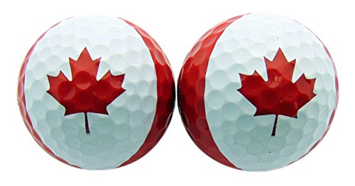Westman Works Canada Day Canadian Golf Ball Set of 2 Boxed