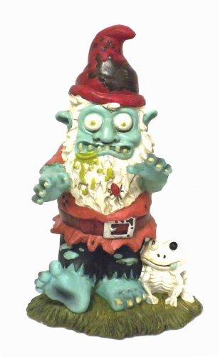 Creepy Halloween Zombie Gnome Garden Statue
