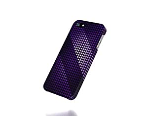 Apple iPhone 4 / 4S Case - The Best 3D Full Wrap iPhone Case - purple patterns dots
