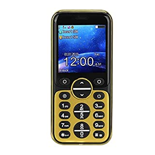 T angxi Cell Phone for Senior, 1.33inch/IPS LCD Screen 240x240 Resolution Mini Mobile Phone, Dual Card Dual Standby Bluetooth Smartphone for Elders Students(Gold)