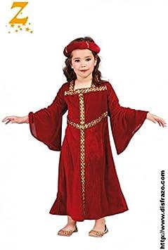 Guirca grafoplas Disfraz Dama Medieval niña, Color Rojo, 81287 ...