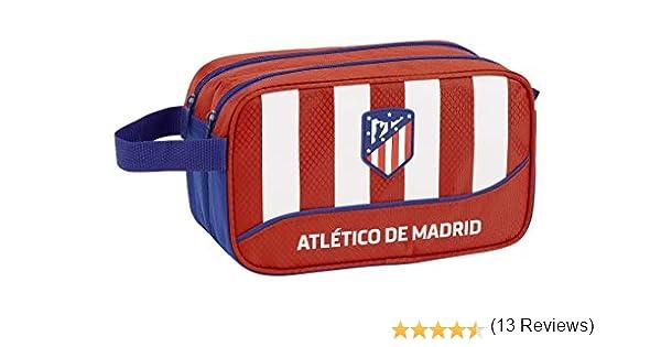Club Atlético de Madrid Atlético de Madrid Club de fútbol Neceser, Bolsa de Aseo Adaptable a Carro. Accesorio de Viaje, Niños, Roja, 26 cm: Amazon.es: Ropa y accesorios