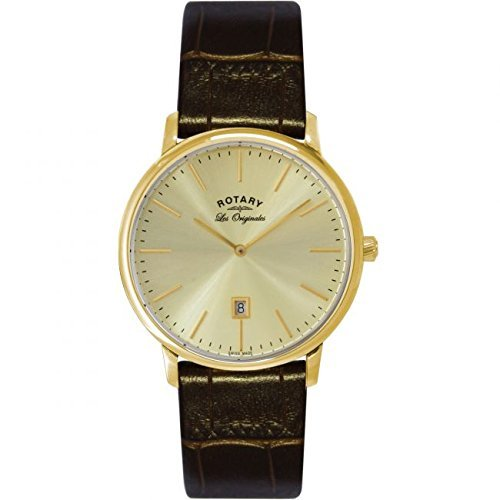 Rotary Les Originales GS90052/03 - Wristwatch da Man, Leather Strap colore marrone