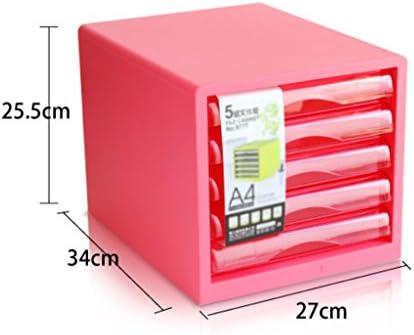 Archivadores Liuyu · Living Home Gabinete de Archivo de Escritorio Colorido Quinto Piso A4 Oficina Caja de Almacenamiento cajón Moda (Color : Polvo): Amazon.es: Hogar