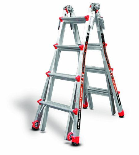 (Little Giant Ladder Systems 12017 RevolutionXE Articulating Ladder, Model 17, Aluminum/Orange)