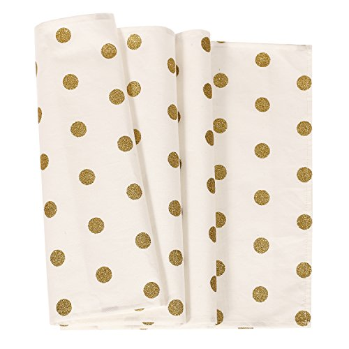 Ling's moment Golden Polka Dots Table Runner Gold Runner 12
