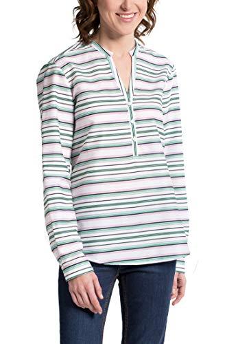 Classic Modern Verde Striped rosa Long Eterna Sleeve bianco Blouse tP4YIq
