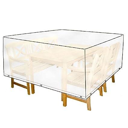 Fundas de protección para muebles de jardín 215x119x105cm blanca ...