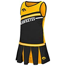 "Iowa Hawkeyes NCAA Toddler ""Curling"" 2 Piece Set Cheerleader Outfit"