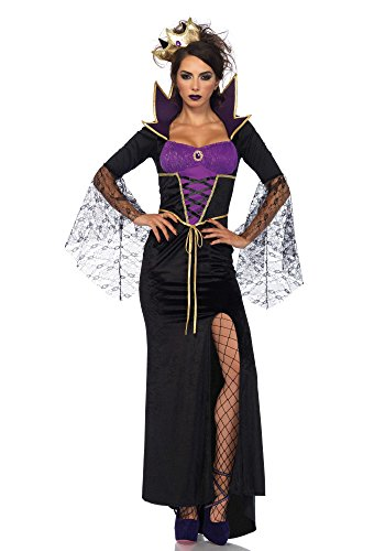 Evil Queen Sexy Costumes - Leg Avenue Women's Costume, Black/Purple,