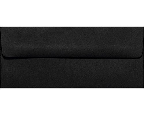 #10 Square Flap Envelopes w/Peel & Press (4 1/8 x 9 1/2) - Midnight Black (50 Qty.)