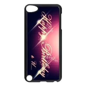 Purple Happy iPod Touch 5 Case Black NRI5040760