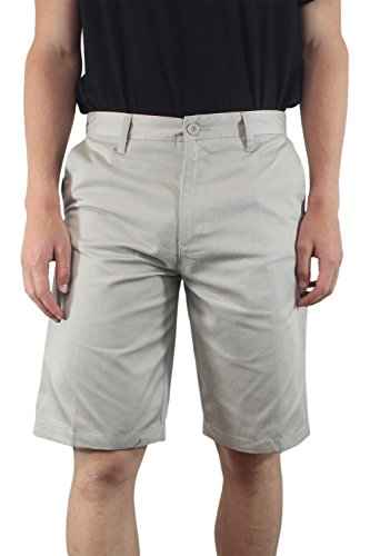 Burnside Men's Solid Daily Chino Short (38, Heather Stone) (Wig The Old Hippie)