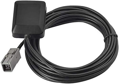 Eightwood Antena de navegación GPS para vehículos con GT5-1S Adaptador de Enchufe Gris Se Adapta a Toyota Honda Nissan Kenwood Alpine Unidad de ...