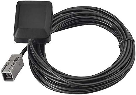 Eightwood Antena de navegación GPS para vehículos con GT5-1S Adaptador de Enchufe Gris Se Adapta a Toyota Honda Nissan Kenwood Alpine Unidad de navegación GPS para vehículos