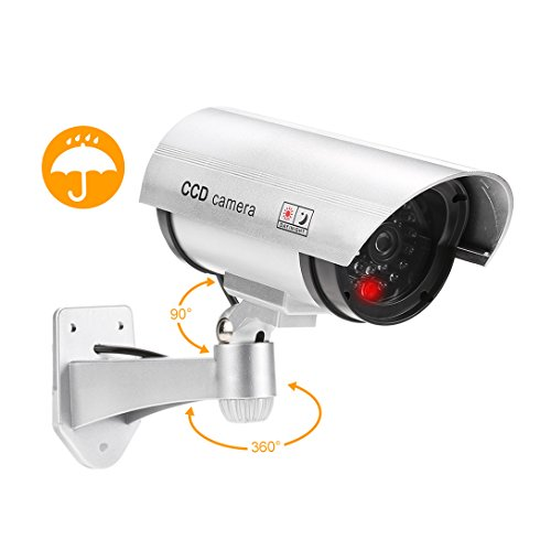 Great Features Of Dummy Fake Bullet Camera Surveillance Security CCTV Dome Cameras Indoor Outdoor wi...