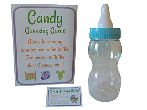 "Baby Shower Candy Guessing Game with 11"" Giant Baby Bottle B"