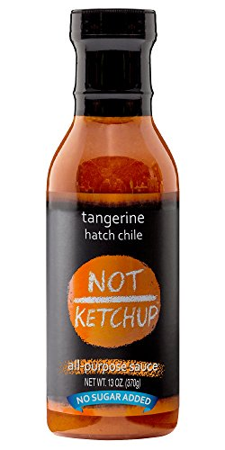 Tangerine Hatch Chile Paleo BBQ Sauce, No Added Sugar, Gluten Free, All Natural, Dipping, Grilling and Marinating Sauce, 13 oz Bottle