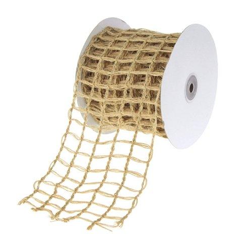(Homeford Firefly Imports Braided Net Jute Mesh Ribbon, 4-Inch, 10 Yards, 4